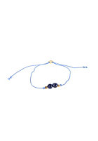 MINT Womens Single Stone Silk Bracelet gold lapis lazuli