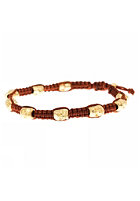 MINT Womens Skull Macrame Gold Bracelet brown