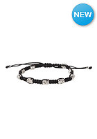MINT Womens Skull Macrame Silver Bracelet black