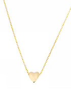 MINT Womens Sliding Heart Necklace gold