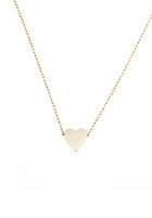 MINT Womens Sliding Heart Necklace silver