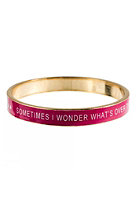 MINT Womens Sometimes I Wonder?Bangle cerise
