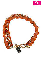 MINT Womens Suede Cord & Chain Bracelet gold orange
