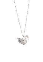MINT Womens Swan Origami Necklace silver finishing