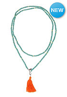 MINT Womens Wood Necklace With Tassel petrol