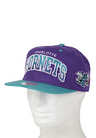 MITCHELL NESS Charlotte Hornets Arch Gradient Snapback Cap purple