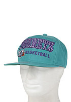 MITCHELL NESS Charlotte Hornets Blocker Snapback Cap teal
