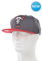 MITCHELL NESS Chicago Bulls 2 Tone Snapback Cap dark grey heather