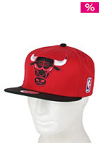 MITCHELL NESS Chicago Bulls XL Logo 2 Tone Snapback Cap red