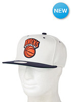 MITCHELL NESS Cream Top New York Knicks Snapback Cap cream /team colour