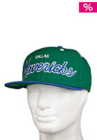 MITCHELL NESS Dallas Mavericks 2 Tone Script Snapbacks Cap team