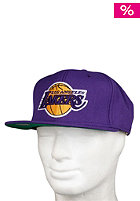 MITCHELL NESS LA Lakers Basic Solid Team Snapback Cap purple