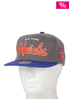 MITCHELL NESS Melton Script Knicks Snapback Cap grey/team colour knicks