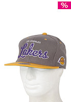 MITCHELL NESS Melton Script Lakers Snapback Cap grey/team colour lakers