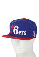 MITCHELL NESS Philadelphia 76ers XL Logo 2 Tone Snapback Cap red