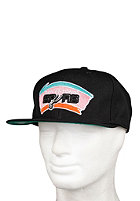 MITCHELL NESS San Antonio Spurs Basic Solid Team Snapback Cap black