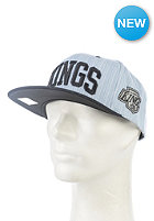 MITCHELL NESS Striped Denim Arch LA Kings Snapback Cap denim indigo