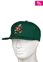 MITCHELL NESS University Of Miami Basic Logo Snapback Cap green