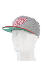 MITCHELL NESS Vintage Detroit Redwings Wool Strapback Cap heather grey