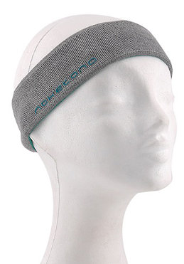 NAKETANO Borstil Headband grey melange/aqua green