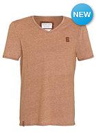 NAKETANO Schmipanski S/S T-Shirt heritage brown melange