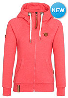 NAKETANO Womens Brazzo III Hooded Zip Sweat candy red melange