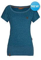 NAKETANO Womens Dizzel Dizzel Dizzel S/S T-Shirt deep blue green melange