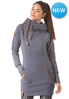NAKETANO Womens Lange V Hooded Sweat bluegrey melange