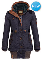 NAKETANO Womens Langes F�dchen, Faules M�dchen Coat dark blue