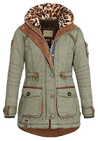 NAKETANO Womens Merciless Jacket desert green