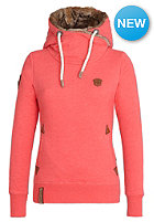 NAKETANO Womens Muschinski Hooded Sweat candy red melange