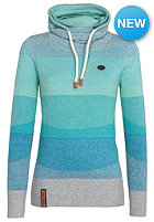 NAKETANO Womens Schmierao II Knit Sweat grey- blue melange striped