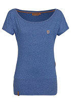 NAKETANO Womens Wolle V S/S T-Shirt blue melange