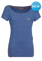 NAKETANO Womens Wolle V S/S T-Shirt blue melange