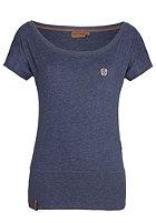 NAKETANO Womens Wolle V S/S T-Shirt bluegrey melange