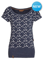 NAKETANO Womens Wolle Will V�gel(n) III S/S T-Shirt indigo blue melange