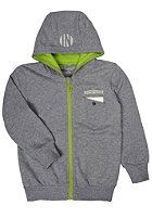 NAME IT Kids Elmut Ex Long W Hooded Zip Sweat grey melange