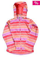 NAME IT Kids Mello Jacket Block Stripe Girl Jacket calypso coral