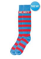 NEFF Big Little Stripe Snow Socks blue