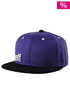 NEFF Daily Snapback Cap purple black white