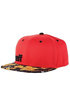 NEFF Daily Snapback Cap red floral black