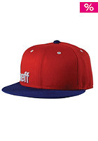 NEFF Daily Snapback Cap red navy white