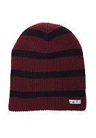NEFF Daily Stripe Beanie maroon/black