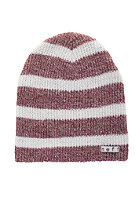 NEFF Daily Stripe Beanie maroon/white