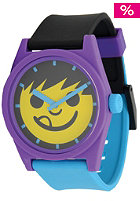 NEFF Daily Sucker Watch yellow purple cyan
