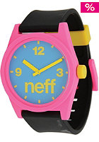 NEFF Daily Watch cyan pink black