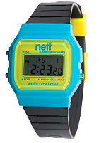 NEFF Flava Watch cyan yellow black