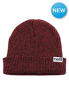 Fold Heather Beanie black/red