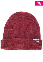 NEFF Fold Heather Beanie neon coral / maroon