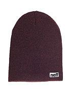 NEFF Optic Heather Beanie maroon/black